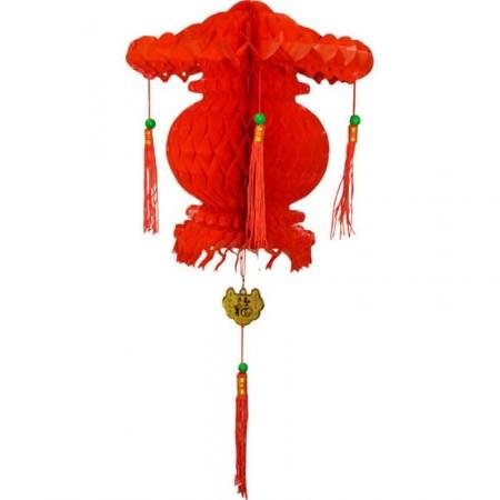 Suspensions chinoises int/ext 30cm env - pvc - LOT DE 2