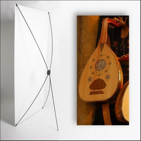 Kakemono Oriental Mandoline 80 x 180 sur Toile M1 / X Banner