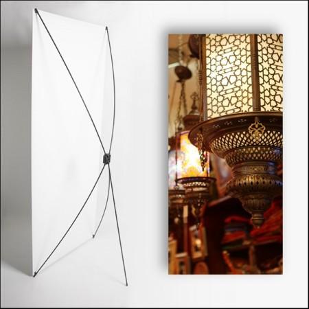 Kakemono Oriental Lampe 80 x 180 sur Toile M1 / X Banner
