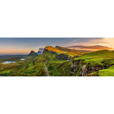 Panoramique Écosse Highlands  - PVC - 90 x 30 cm