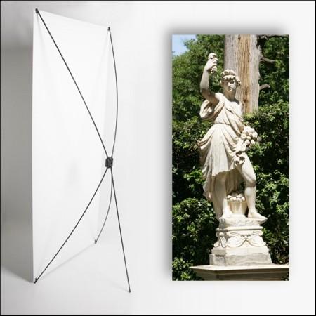 Kakemono Italie Statue - 180 x 80 cm - Toile M1 avec structure  X- Banner