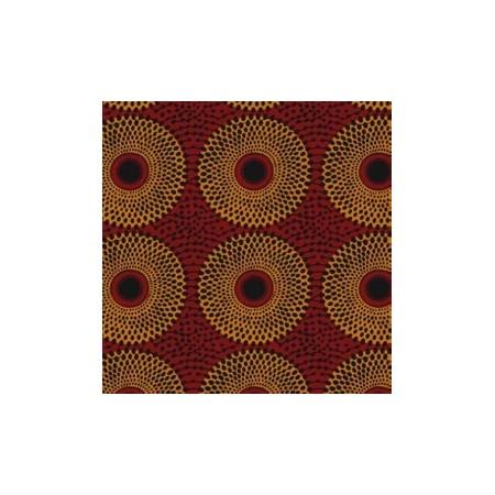 Tissu africain - Larg 150cm - façon Wax - impression recto - 100pourcent coton