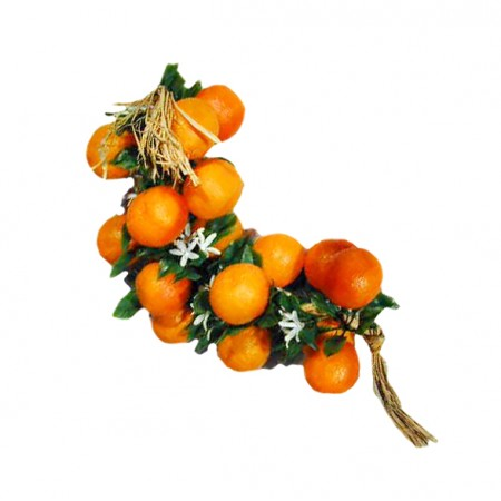 Chapelet de 20 oranges - PVC - Long: 60 cm