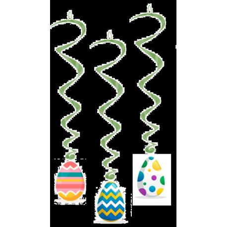 Virvatelles oeufs de Pâques x3 - PVC - Long: 65 cm