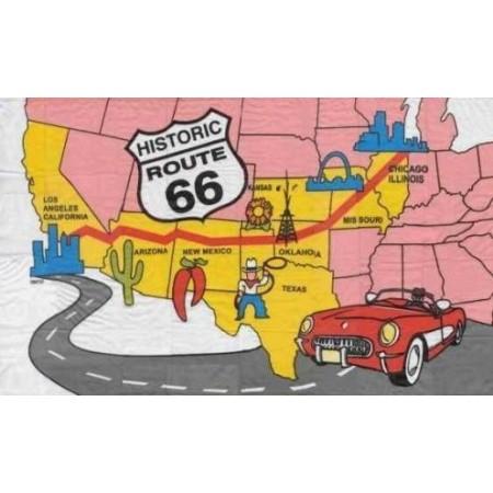 Drapeau Historic Route 66 - tissu - 90 x 150 cm