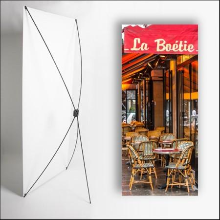 Kakemono La Boetie - 180 x 80 cm - Toile M1 avec structure  X- Banner