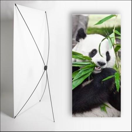 Kakemono Asie Panda 180 x 80 cm - Toile M1 avec structure  X- Banner