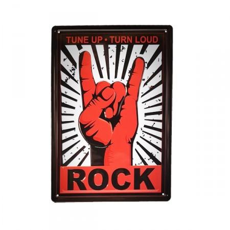 Plaque Métal 3D Rock  - 20 x 30cm