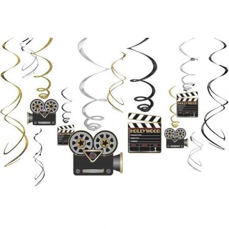 Lot de 12 suspensions cinéma hauteur 61 cm