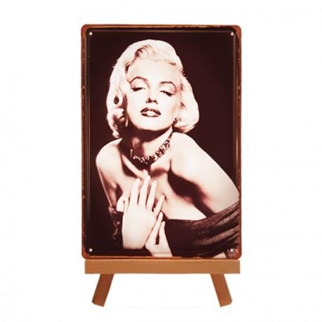 Plaque Métal Marylin Monroe - 20 x 30cm