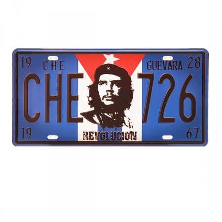 Plaque metal 3D Cuba - 15 x 30cm