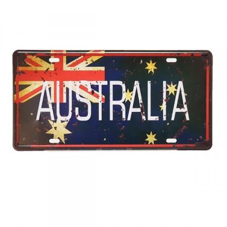 Plaque metal 3D Australie - 15 x 30cm