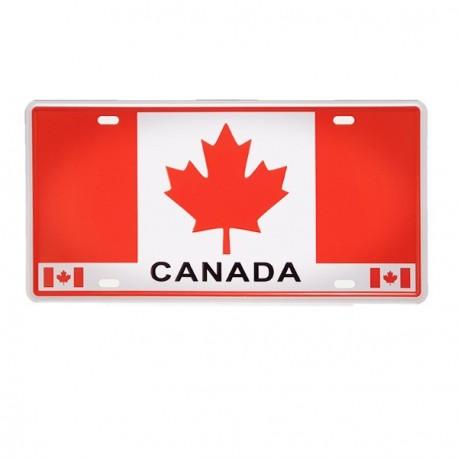 Plaque metal 3D Canada - 15 x 30cm