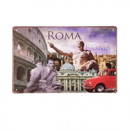Plaque Métal Rome - 20 x 30cm