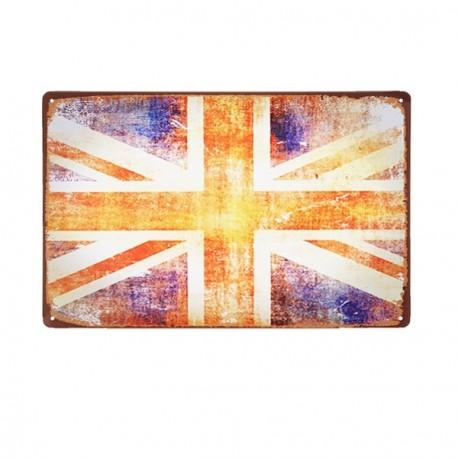 Plaque Métal Royaume-uni - 20 x 30cm