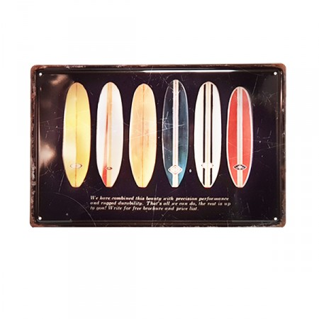 Plaque metal 3D Surf - 20 x 30cm