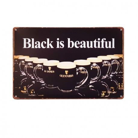 Plaque Métal Bière Guinness - 20 x 30cm