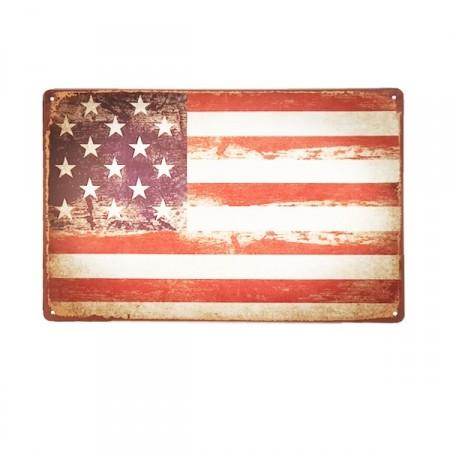 Plaque Métal USA - 20 x 30cm