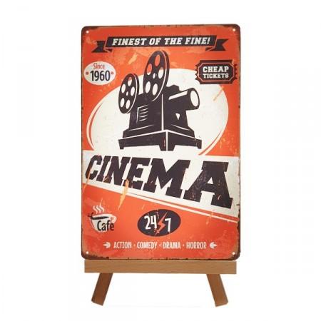 Plaque Métal Cinema - 20 x 30cm