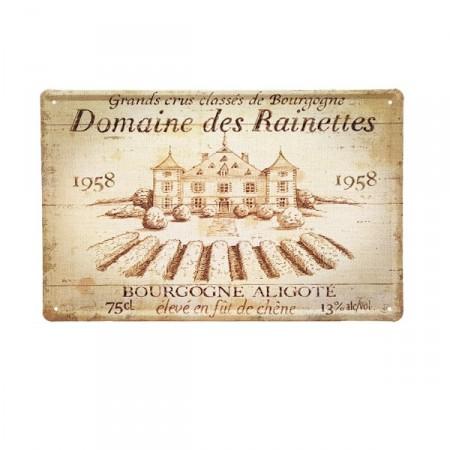 Plaque Métal Domaine des Rainettes - 20 x 30cm