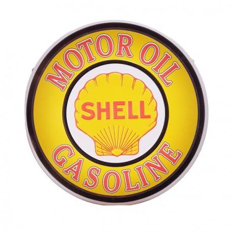 Plaque metal ronde 3D Shell - diam.30cm