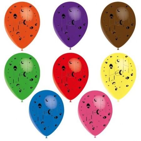 Ballons baudruche Rubgy pochette de 8 - Diam. 29cm - multicolore