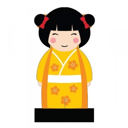 KOKESHI - Céramique / 20 cm - (coloris assortis)