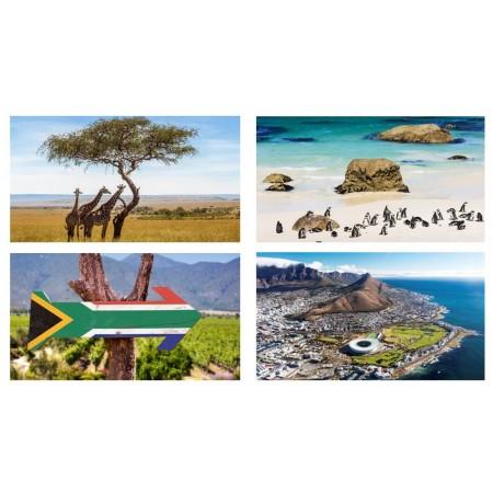 Mobiles Afrique du sud x 4 - carton - 27 x 49 cm