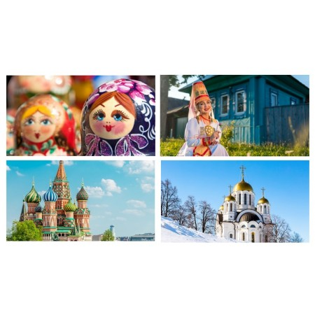 Mobiles Russie x 4 - carton - 27 x 49 cm