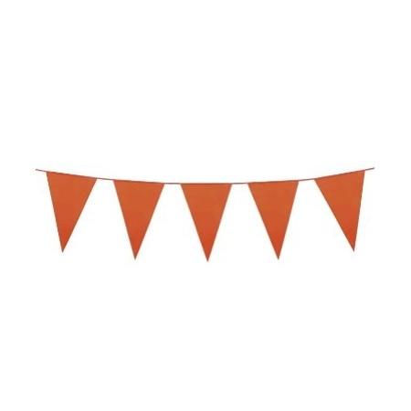 Guirlande de 18 pavillons orange  Longueur 10m