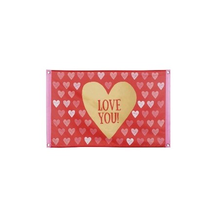 Drapeau Saint Valentin Love You – 60 x 90 cm