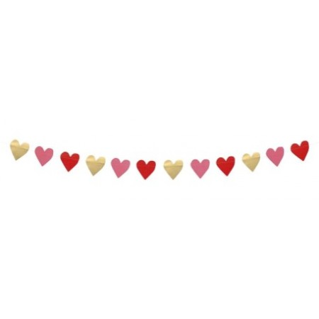 Guirlande cœur en papier – Longueur: 2 m