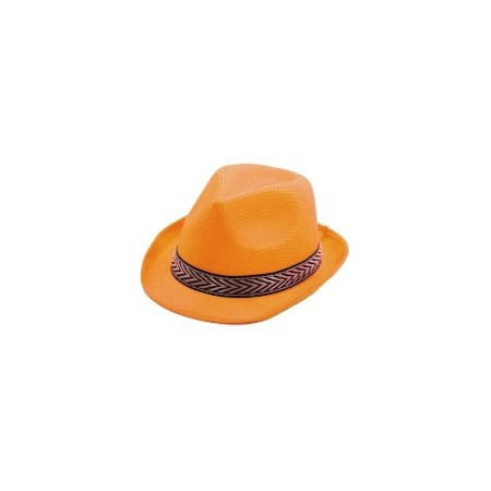 Chapeau Funky orange
