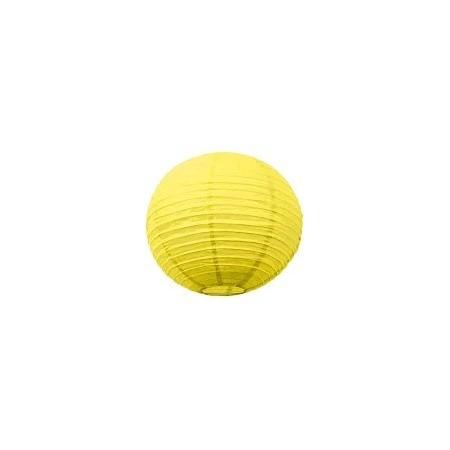 Lampion boule papier JAUNE – Diam 25 cm