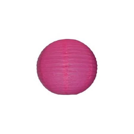 Lampion boule papier ROSE – Diam 25 cm