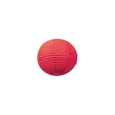 Lampion boule papier ROUGE – Diam 25 cm