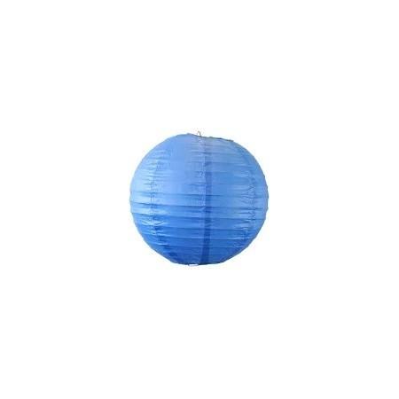 Lampion boule papier BLEU – Diam 25 cm