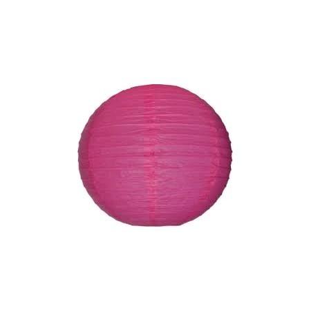 Lampion boule papier ROSE – Diam 35 cm