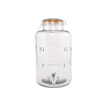 Limonadier avec robinet - Fontaine à soft - 19,5x14x30 cm – 4L