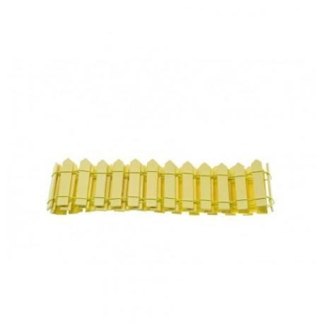 Barrière en bois jaune 5,5x86cm