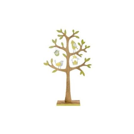Arbre en bois vert  22x5x34 cm