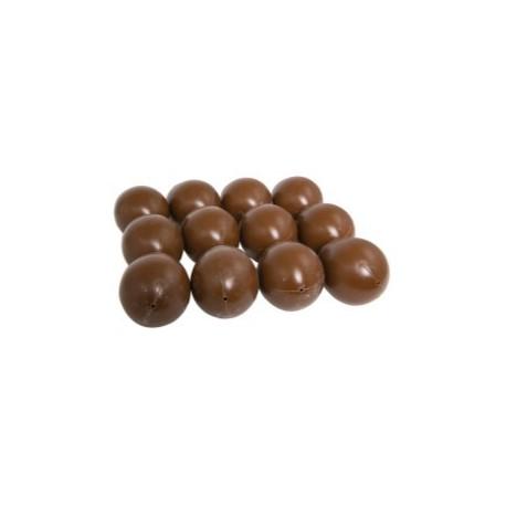 Oeufs imitation chocolat 4,5x6,5cm - lot de 12
