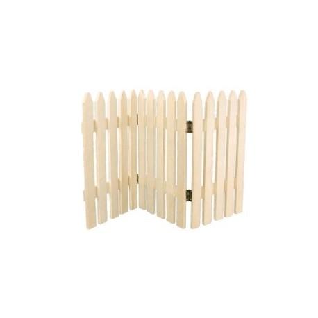 Barrière en bois naturel 30 x 18 cm