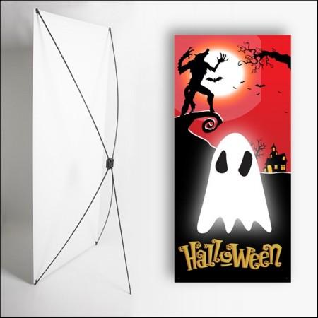 Kakemono Halloween 4 - 180 x 80 cm - Toile M1 avec structure  X- Banner