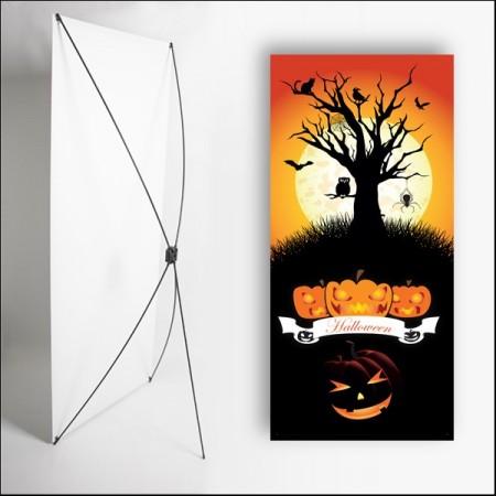 Kakemono Halloween 2 - 180 x 80 cm - Toile M1 avec structure  X- Banner