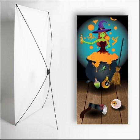 Kakemono Halloween 3 - 180 x 80 cm - Toile M1 avec structure  X- Banner