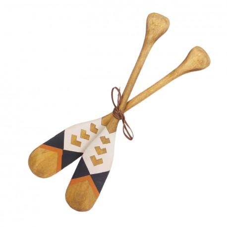 Paires de rames en bois - Long. 41cm