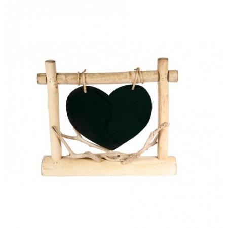 Coeur en bois à poser 32 cm x 27 cm