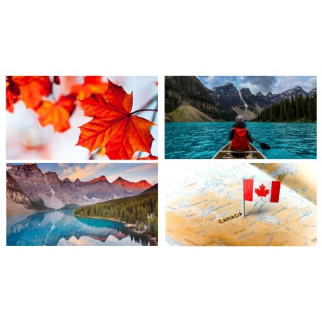 Mobiles Canada x 4 - carton - 27 x 49 cm