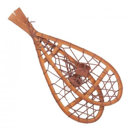 Paire de raquettes en bois - Haut 55cm